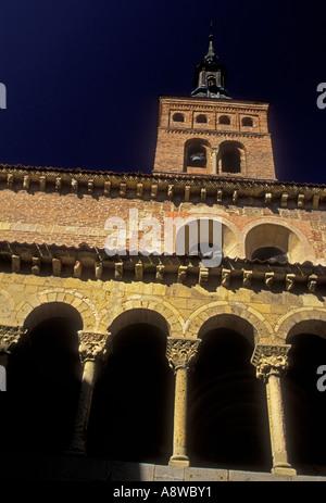 Iglesia de San Martin, San Martin Church, Plaza de Medina del Campo, Segovia, Segovia Province, Castile and Leon, - Stock Photo
