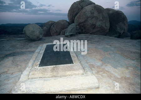 The Grave of Cecil John Rhodes - Stock Photo