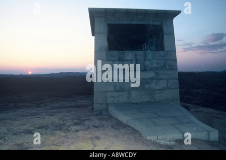 Memorial at dawn - Stock Photo