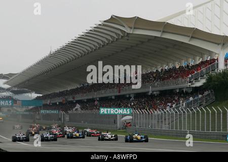 The start of the race Malaysian Formula One Grand Prix 16 19 3 06 Sepang Circuit Malaysia - Stock Photo