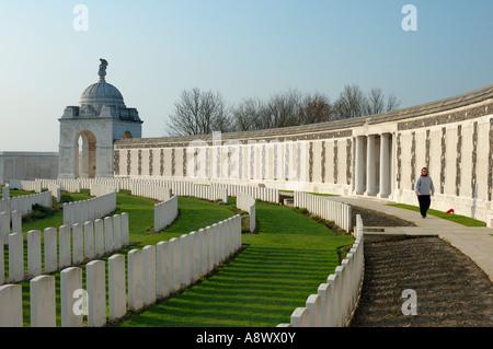 Tyne Cot military cemetery, Belgium - Stock Photo