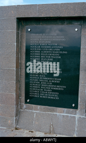 Argentine Military Cemetery, Darwin, East Falkland, Falkland Islands, South Atlantic - Stock Photo