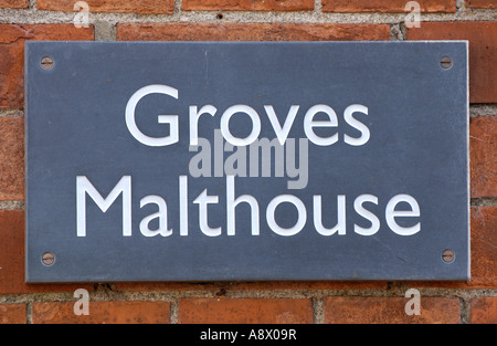 Groves Malthouse in Weymouth UK redeveloped into luxury apartments and maisonettes part of the Brewers Quay Conservation - Stock Photo