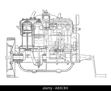 4 cylinder car engine diagram diagram of four cylinder petrol engine car chassis with ...