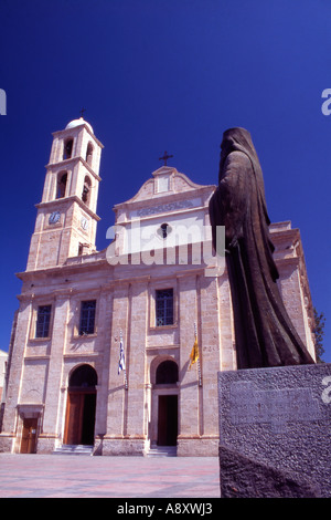 Greece Western Crete The Cathedral Church of Chania Church of the Trimartyri - Stock Photo