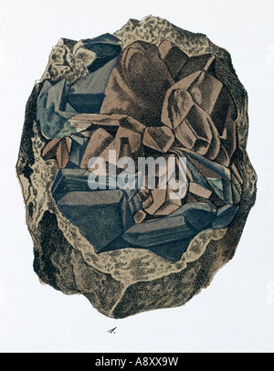 Plate 10 fig 1 from Mineralienbuch - Stock Photo