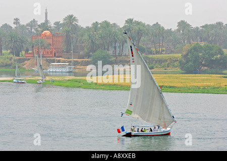 Felucca on the Nile - Stock Photo