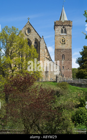 dh Dunblane cathedral DUNBLANE STIRLINGSHIRE Church clock tower scotland