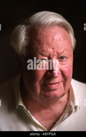 The late (died July 2005) Sir Edward 'Ted' Heath at home in Salisbury, Wiltshire, UK (March 2001) - Stock Photo