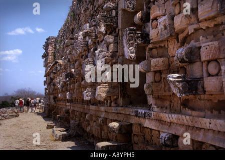 THE PALACE OF THE MASKS AT KABAH YUCATAN MEXICO - Stock Photo