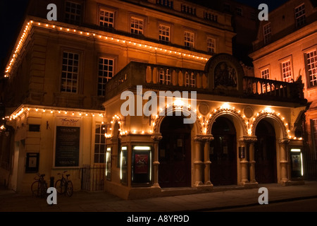 The New Theatre Royal in Bath England at Night - Stock Photo