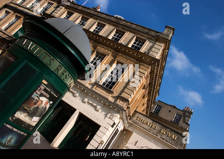 Side entrance to the New Theatre Royal in Bath Somerset England - Stock Photo