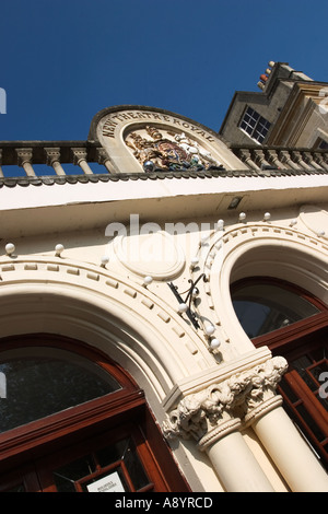Coat of Arms above the entrance to the New Theatre Royal in Bath Somerset England - Stock Photo