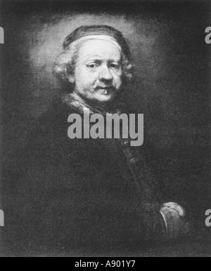 Rembrandt Harmensz van Rijn Self Portrait - Stock Photo