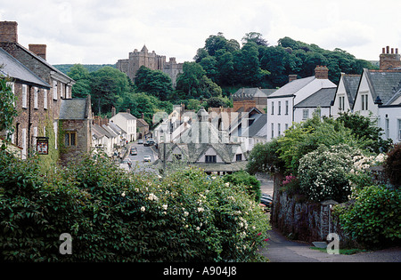 village of Dunster in Somerset England - Stock Photo