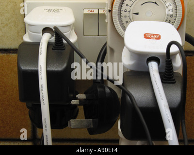 Overloaded Power Sockets - Stock Photo