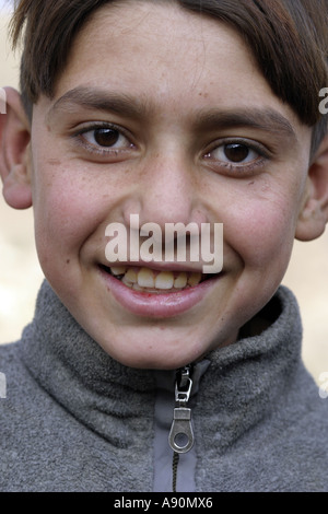 Pashtun boy Swat District North West Frontier Province Pakist - Stock Photo