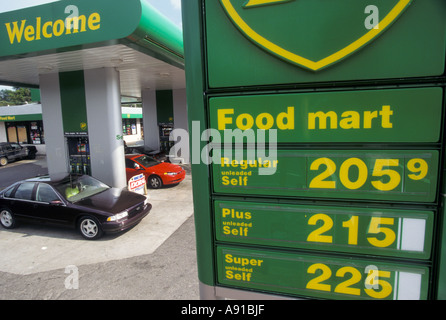 Detroit Michigan A BP gas station with prices above 2 00 a gallon - Stock Photo