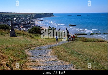Arromanches les Bains, Normandy, France. General view of beach - Stock Photo