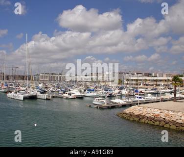 Lagos Marina in the Algarve Portugal - Stock Photo
