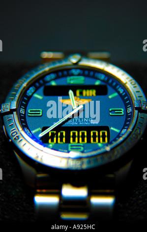 Breitling Aerospace repetition minutes titanium gents wristwatch - Stock Photo