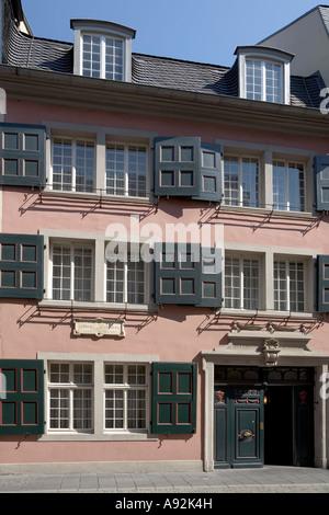The house where Beethoven was born, Bonngasse, Bonn, NRW, Germany - Stock Photo