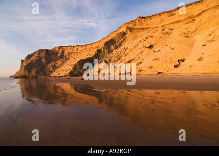 Steep coast near Loenstrup village, Jutland, Denmark - Stock Photo