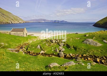 Keel Beach Achill Island Co Mayo Eire - Stock Photo