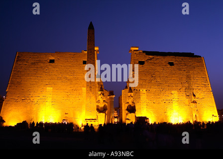 Luxor Temple at night, Egypt - Stock Photo