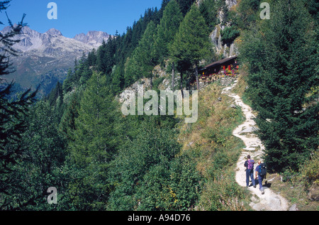 CHAMONIX VALLEY FRANCE Europe France Alpine Scene - Stock Photo