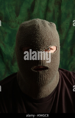 scary man in balaclava ski mask dsca 4182 - Stock Photo