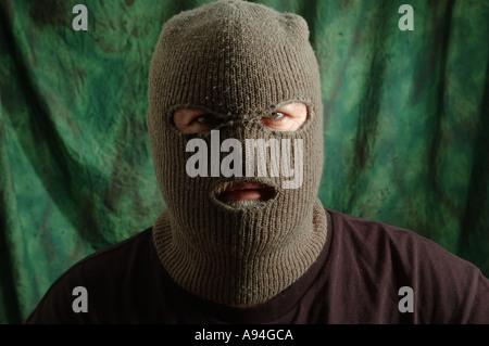 scary man in balaclava ski mask dsca 4183 - Stock Photo