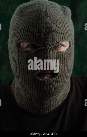 scary man in balaclava ski mask dsca 4188 - Stock Photo