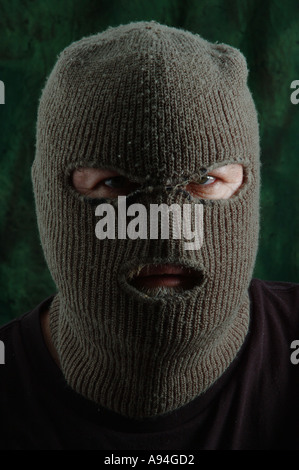 scary man in balaclava ski mask dsca 4189 - Stock Photo