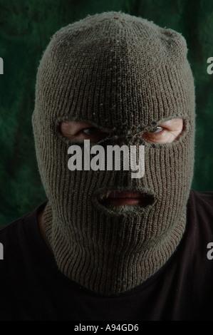 scary man in balaclava ski mask dsca 4190 - Stock Photo