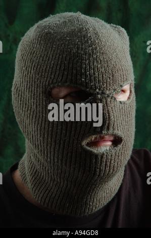 scary man in balaclava ski mask dsca 4181 - Stock Photo