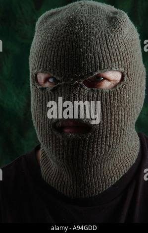 scary man in balaclava ski mask dsca 4194 - Stock Photo