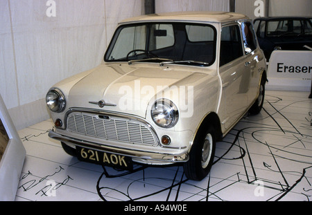 The last surviving prototype of the classic Mini designed by Alec Issigonis and unveiled in 1959 - Stock Photo