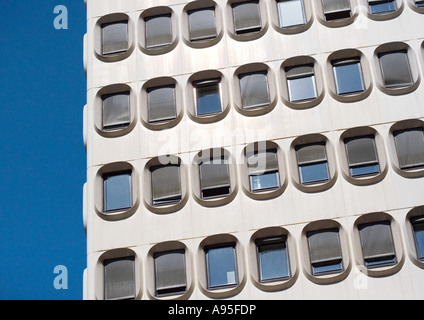 Modern high rise, partial view - Stock Photo