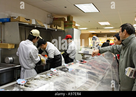 Massachusetts boston chinatown district interior of for Fish stores in ma