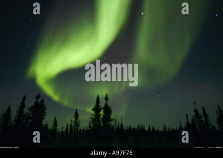 Northern Lights Aurora borealis Canada - Stock Photo