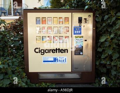 Cigarette vending machine Germany Europe - Stock Photo