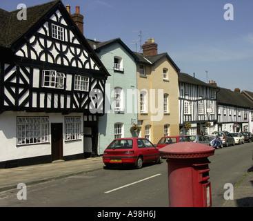 Half Timbered Buildings in Corve Street, Ludlow, Shropshire, England, UK, United Kingdom, Great Britain, Europe - Stock Photo