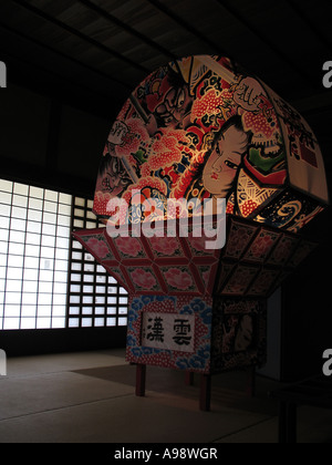 Paper lantarn with traditional Japanese graphic - Stock Photo