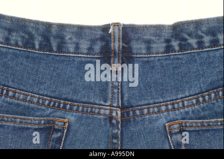 Back view of a pair of denim jeans - Stock Photo