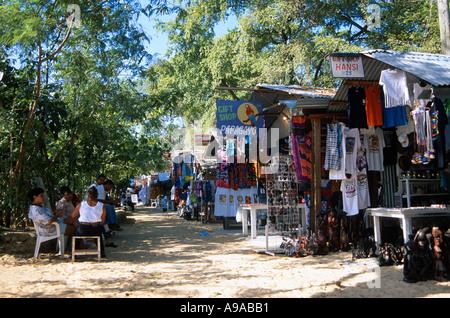 Market on the beach Sosua north coast Dominican Republic Hispaniola Caribbean