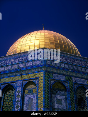 MOSAIC OMAR MOSQUE DOME OF THE ROCK TEMPLE MOUNT JERUSALEM ISRAEL - Stock Photo