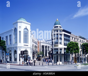 SHOPS RODEO DRIVE BEVERLY HILLS LOS ANGELES CALIFORNIA USA - Stock Photo