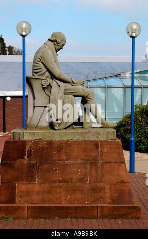 Statue of James Watt , Riccarton Campus, Heriot Watt University, Edinburgh,Scotland,United Kingdom - Stock Photo