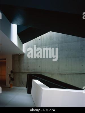 Cincinnati Contemporary Arts Center, Ohio, USA. - Interior. Architect: Zaha Hadid - Stock Photo